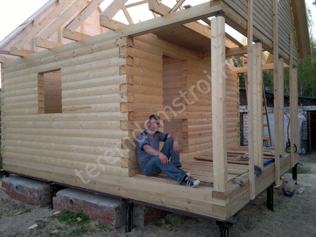 Строительство бани из бруса своими руками: пошаговая 7