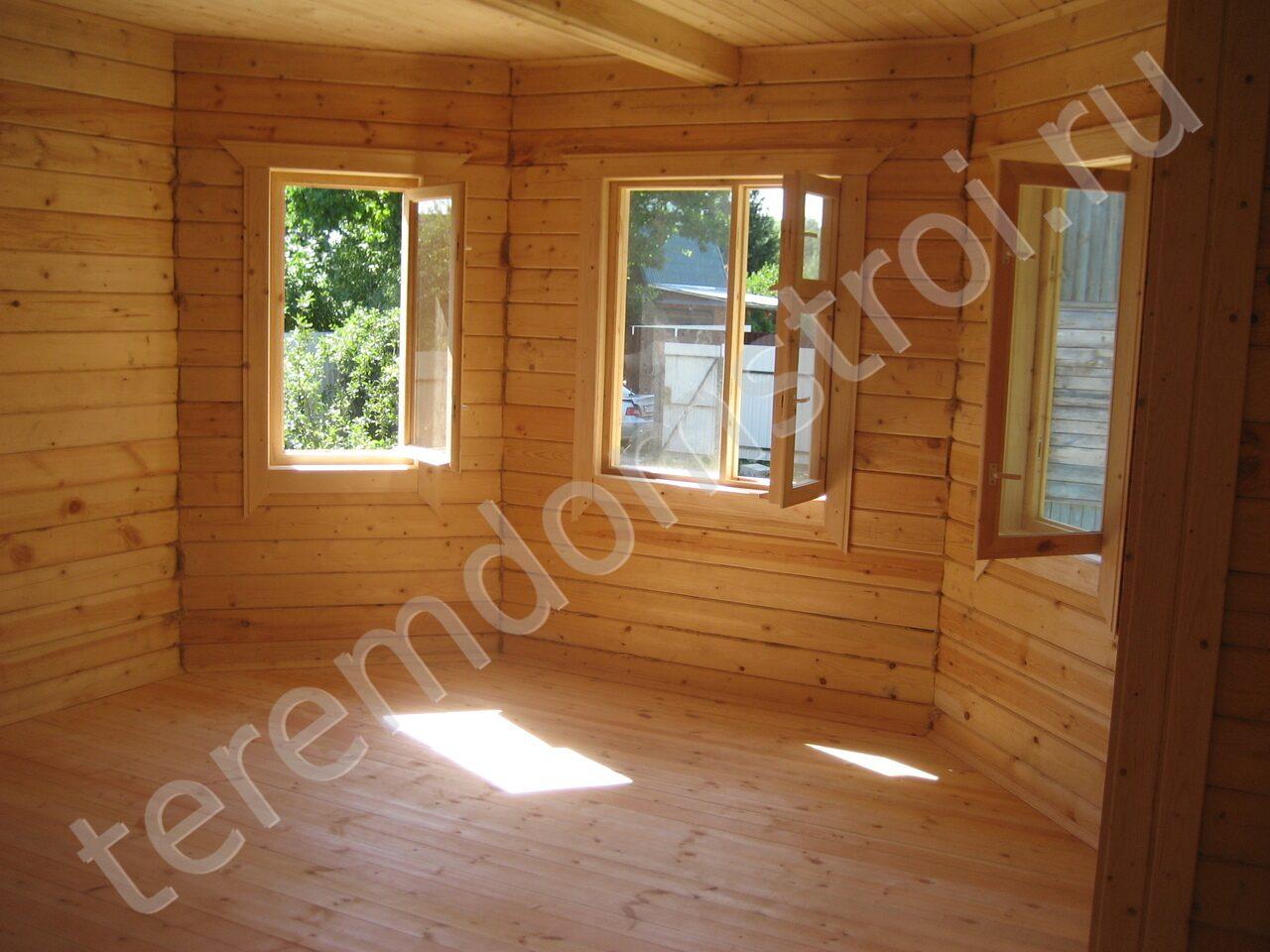 """Фото внутренней отделки домов из бруса компании """"терем строй."""